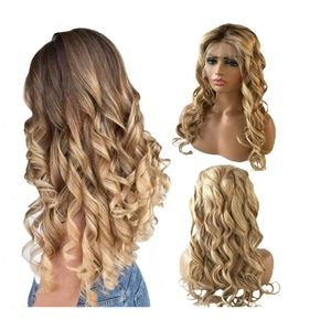 Human Hair Blonde Ombre Lace Front Wig